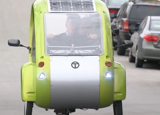 Solar Powered Bicycle Car Hybrid